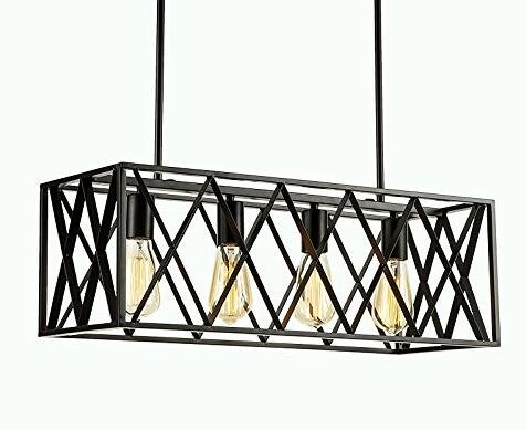 FGHOME-Efine-Vintage-Industrial-Lighting-4-Lights-Edison-Retro-Rustic-Metal-Black-Rectangle-Chandelier-for-Kitchen-Foyer-Island-Shade-Max-240w-NO-Glass-Black-4