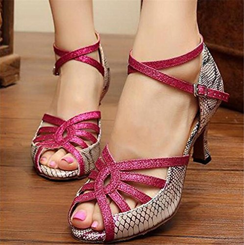 Chaussures Pour Femmes Pu Dance Hall Latin Taogo Dance Pumps Sandales Roses De 35 À 40 Talon De 6cm