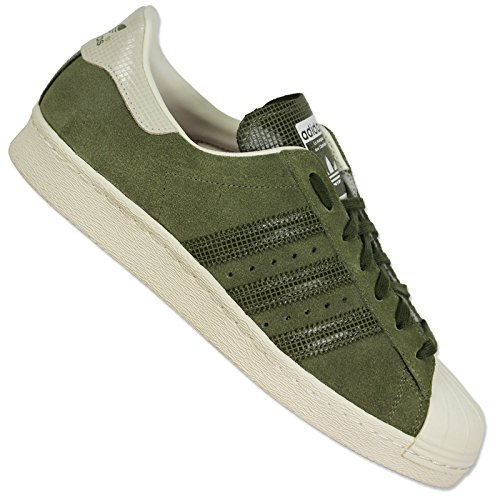 Adidas Originals Superstar 80s Shoes - Olive Cargo S15-st/Off White, Verde (verde), 40 EU / 6,5 UK
