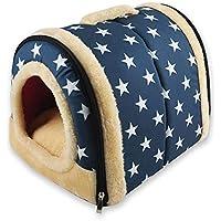 Jushi Caseta de Peluche con cojín Interior de Doble Uso para Mascotas, Gatos, Arena