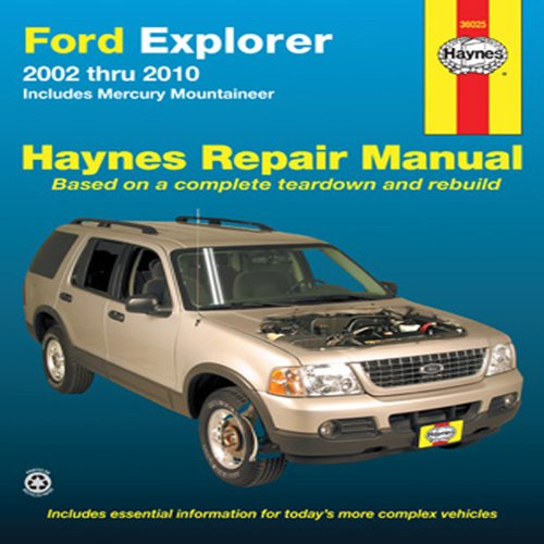 Ford Explorer & Mercury Mountaineer Automotive Repair Manual: Ford Explorer and Mercury Mountaineer 2002 through (Ford Explorer Manuale)