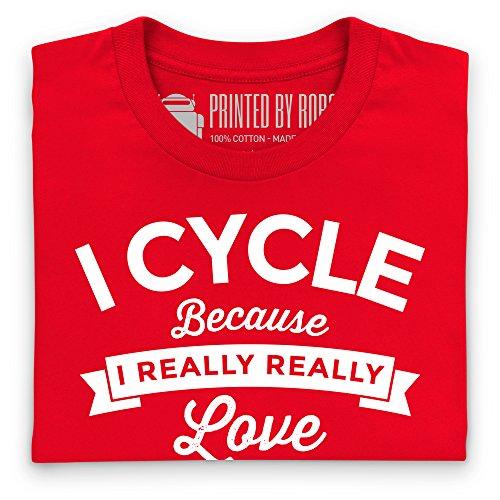 Cycle Booze T-Shirt, Damen Rot