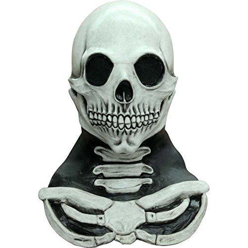 Generique Halloween Skelett-Maske und -Brustkorb für Erwachsene (Brustkorb Halloween)