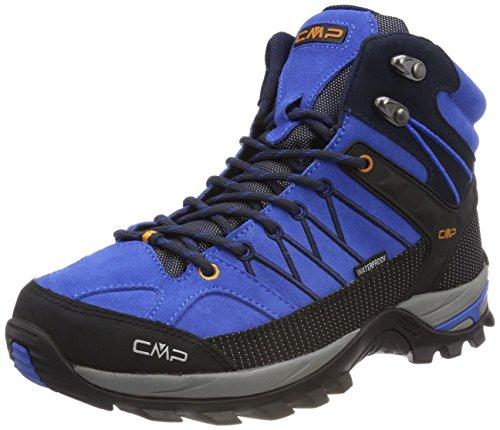 CMP Campagnolo Herren Rigel Trekking-& Wanderstiefel, Blau (Zaffiro-Antracite), 47 - Wasserdichte Boot-männer