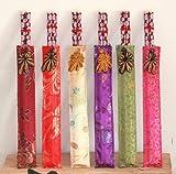 Asiatische Eßstäbchen, aus Holz in schönen bunten Stofftaschen, für 6 Personen, 008