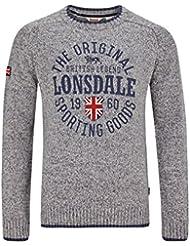 Lonsdale London Herren Pullover Borden grau