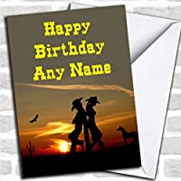 Western Cowboy & Cowgirl Birthday Card