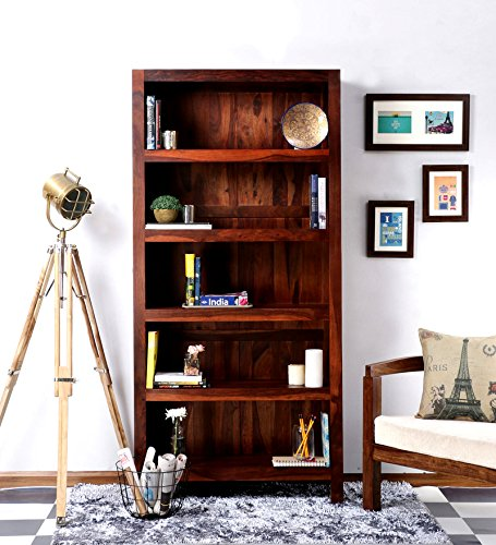 Holz Dekor 5offene Regal Bücherregal, honig, 90x35x178 Cms (Bücherregal Honig)