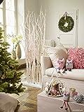 Moderne Weihnachtsbeleuchtung / Ambientebeleuchtung - Großer Weißer Birkenwald / Lichterwald / Dekobaum - Höhe 170cm - 150 LEDs - Weihnachten Dekoration / Raumteiler