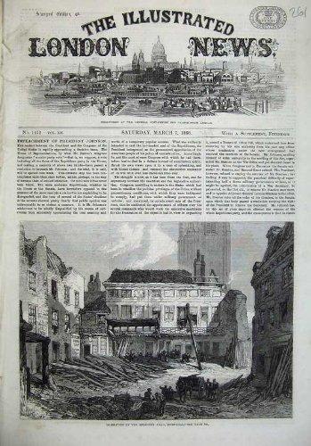 Der Demolierungs-Sarazene der Schönen Kunst Haupt-Haus 1868 der Schnee-Hügel