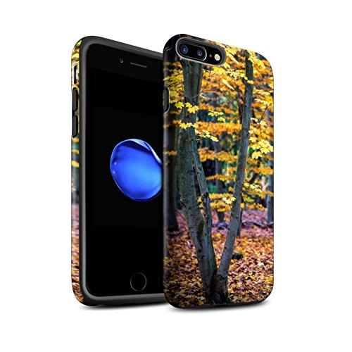STUFF4 Matte Harten Stoßfest Hülle / Case für Apple iPhone 8 Plus / Pack 5pcs / Herbst Saison Kollektion Baum/Blätter