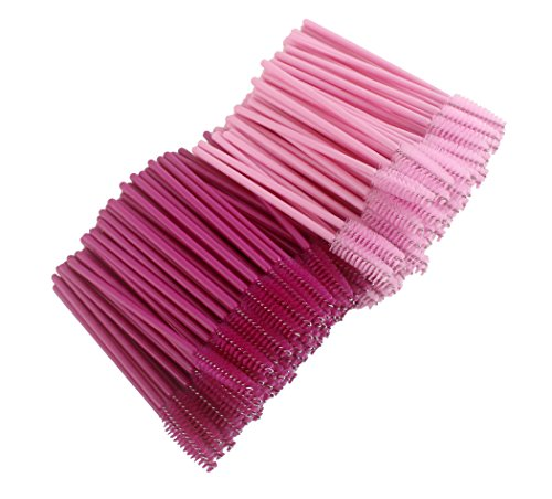 Xiaoyu 200PCS baguettes de mascara jetables multicolore applicateur de cils brosse à sourcils - le style d (200PCS)