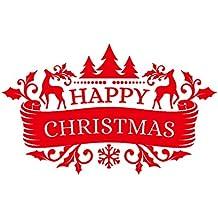 Año 2019 Feliz Navidad Pegatina de Pared Familia Clase Fiesta Fiesta Tema de Navidad Pegatinas de