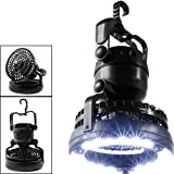 WMM - Camping light Ultra Bright Portable LED Zeltlicht - Lüfter Die 18 LED Campinglaterne - Große Lampe zum Wandern, Camping, Sonnenschirm, Auto und Ausfälle