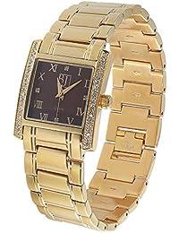 Reloj de Pulsera para Mujer con Caja Rectangular, Acero Inoxidable Macizo, Pulsera de Metal