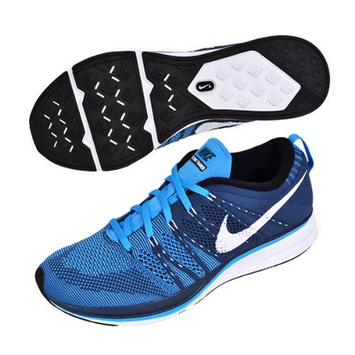 Flyknit Trainer + Running Shoes-escuadra azul / blanco-6.5