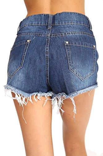 SheLikes - Short - Femme bleu jean
