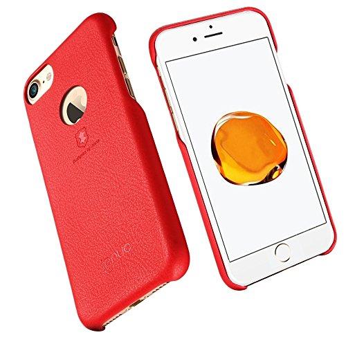 Wkae Lenuo Litchi Texture PU + PC Paste Haut Schutzhülle für iPhone 7 ( Color : Gold ) Red