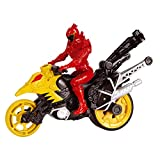Power Rangers Dino Supercharge Stunt Bike Cycle and T-Rex Figure (Grey/Red)