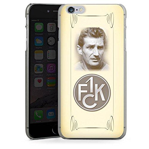 Apple iPhone X Silikon Hülle Case Schutzhülle 1. FC Kaiserslautern Fanartikel Fritz Walter Fußball Hard Case anthrazit-klar