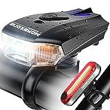 MOREZONE Luce per Bicicletta Fanale USB Ricaricabile Intelligente LED Bicicletta Luce Anteriore Faro Posteriore Super Luminoso 400 Lumen Luci per Bici Torcia Impermeabile