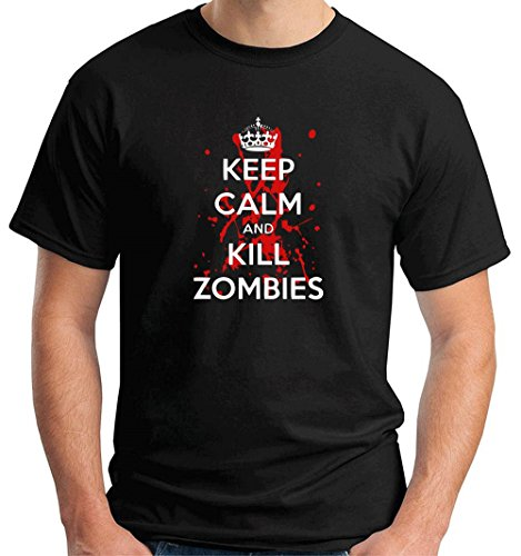 Cotton Island - T-shirt TZOM0040 keep calm and kill zombies (3), Taglia small