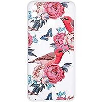 BONROY Coque Huawei Honor 8X,Silicone TPU Étui Housse Souple Antichoc Protecteur Cover Case - (GF-Oiseau et Fleur)