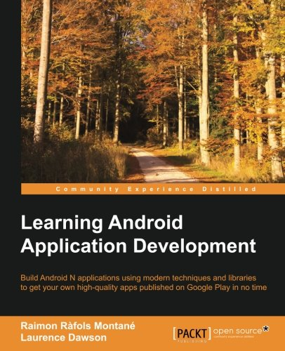 Learning Android Application Development