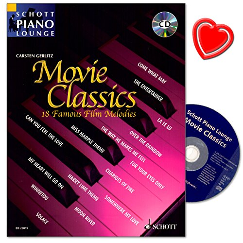 Movie Classics - 18 famosi film Melodie per pianoforte - Serie: Scozia piano Lounge - con CD e colorata herzfoermiger Note KLAMMER