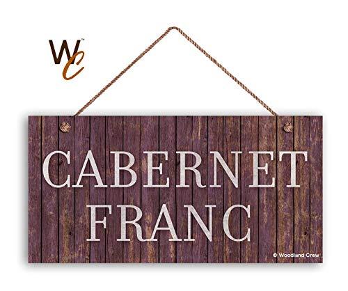 CELYCASY - Cartello per Vino Cabernet Franc, Stile Legno Invecchiato, Decorazione Toscana, 12,7 x 25,4 cm