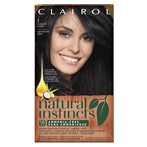 Clairol Coloration sans ammoniaque Natural Instincts - Couleur 36 - Midnight Black (Noir)