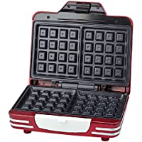 Ariete 187 Waffle Maker   Piastra elettrica antiaderente per waffle  700W  Riponibile in verticale  Rosso