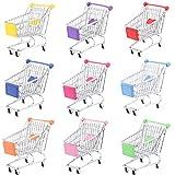 Blesiya Mini Supermarkt Schubkarre Einkaufswagen Warenkorb für Kinder Rollenspiel Spielzeug - 14 x 14,5 x 9,5 cm - Lila