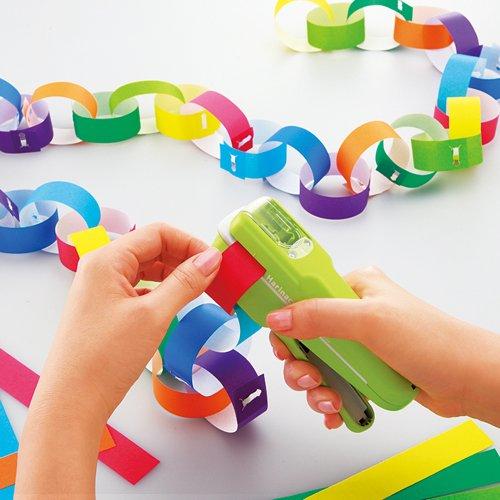Papiertacker ohne Klammern / Umweltfreundlich Heftgerät/Hefter 8Blatt, Grün - 6