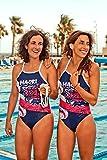 Turbo Schwimmanzug Damen Maori_Flag (Relax-Modell) Schwimmanzug für Sportlerinnen mit Soft-BH (XL = dt. Gr. 40)