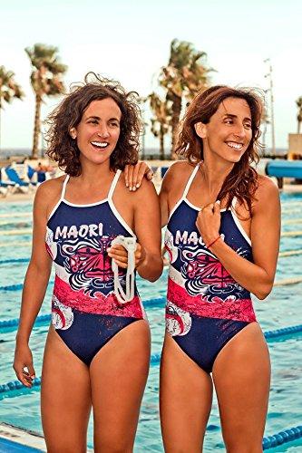 TURBO Schwimmanzug Damen MAORI_FLAG (Relax-Modell) Schwimmanzug für Sportlerinnen mit Soft-BH (M = dt. Gr. 36) (Speedo Flag)