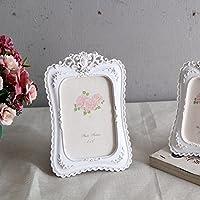 ZZZSYZXL tavolo cornice in resina di nozze sposa ornamenti casa decorazioni 2 set