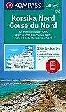 KOMPASS Wanderkarte Korsika Nord, Corse du Nord, Weitwanderweg GR20: 3 Wanderkarten 1:50000 im Set inklusive Karte zur…