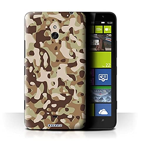 Coque de Stuff4 / Coque pour Nokia Lumia 1320 / Marron 3 Design / Armée/Camouflage Collection