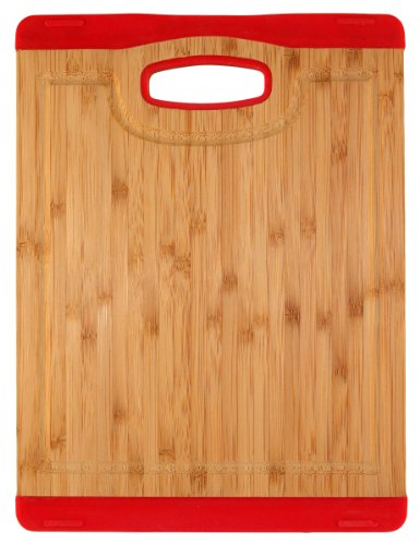 Unbekannt Totally Bamboo BA201716 Schneidbrett Colors mit Saftrille rot 20 x 26,5 cm, Colors (Totally Bamboo-schneidbrett)