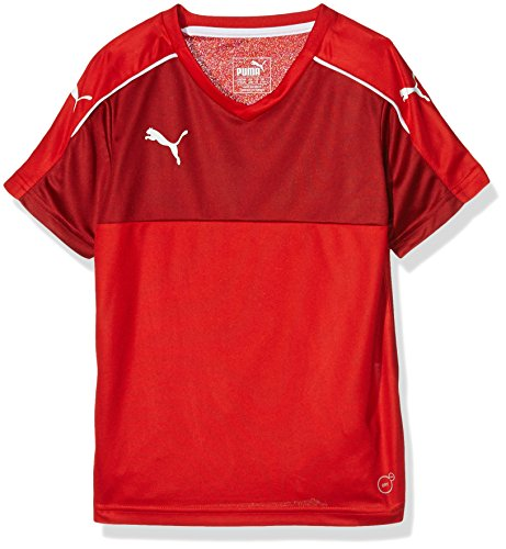 PUMA Kinder T-Shirt Accuracy Short Sleeve, Red-White, 116, 702214 01 (Puma Fußball Trikots)