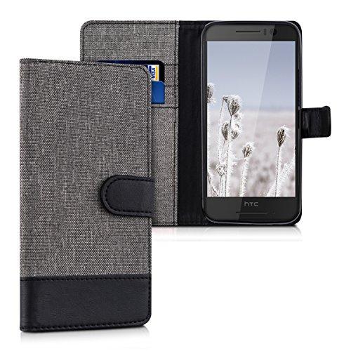 kwmobile HTC One S9 Hülle - Kunstleder Wallet Case für HTC One S9 mit Kartenfächern und Stand