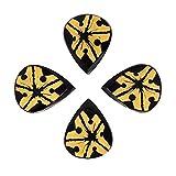 Timber Tones Lot de 4 médiators Tribal Tones avec motif étoile de mer