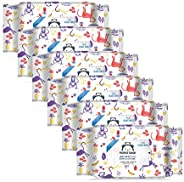 Amazon Brand - Mama Bear 98% Water Wipes - 72 wipes/pack (Pack of 6)