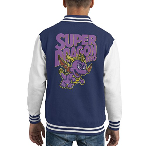 Super Dragon Bro Spyro The Dragon Mario Kid's Varsity Jacket