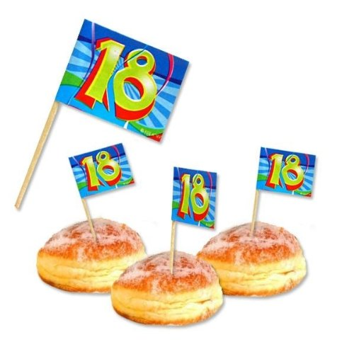Amscan 18. Geburtstag Party-Picker Partydeko 50 Stück bunt 6,5cm Einheitsgröße