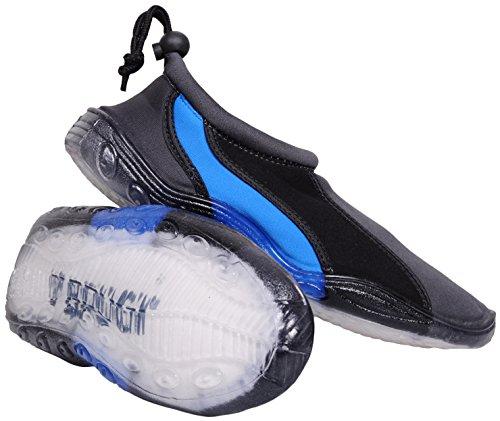 Brugi Femme watershoe Bain Surf Eau Aqua Bottes Chaussures pour Femme Rocks antidérapant antidérapant Protéger 2sa9différentes couleurs et tailles - -graphite-blue