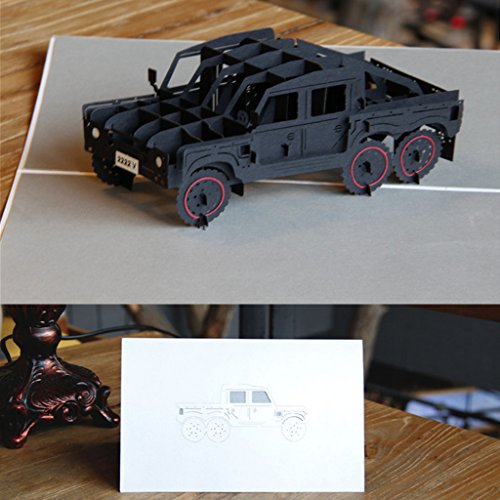 Arich 3D Pop up Jeep Auto Grußkarten Weihnachten Geburtstag Valentine - Halloween New York 2017