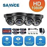 SANNCE Überwachungskamera 4 x 1080P Dome Kameras Nachtsicht bis zum 30 Meter Wetterfest