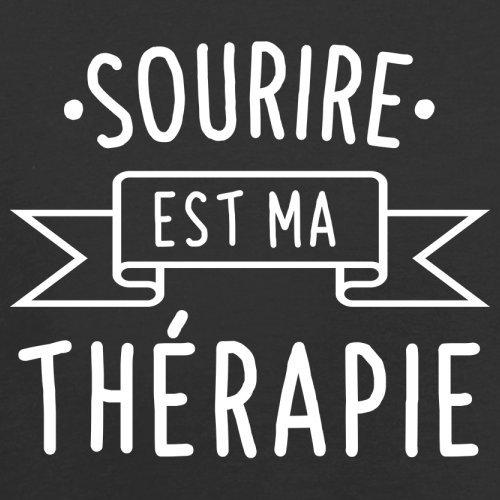 Sourire est ma thérapie - Femme T-Shirt - 14 couleur Noir